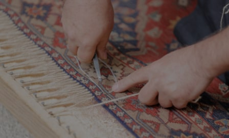 ریشه بافی فرش دستباف